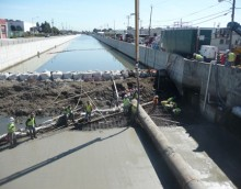 Colma Creek Flood Control Channel Wall Repair